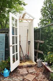 diy garden shed from upcycled materials