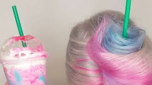 Unicorn Frappuccino Hair Is All Over Instagram And Its Magical