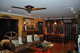 Decorative Ceiling Fans For Dining Room Living And Combination Decoration With Brown Wood