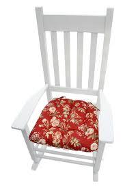 Farrell Red Wild Rose Rocking Chair Cushions - Latex Foam Fill - Made In  USA - XXL