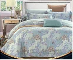 Mint Green Blue Paisley Bedding Set Egyptian Cotton Sheets Luxury