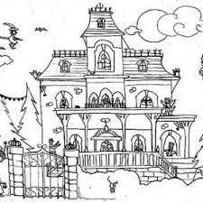 Best Ideas Of Haunted House Coloring Pages To Print For Your Cover Letter
