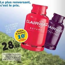 bouteille de gaz consigne leclerc bouteille de gaz clairgaz consigne à 28 50 avec 10