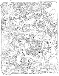 Detailed Coloring Pages Of Fairies Patterns Pagesprintcolouring