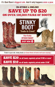 BootBarn.com: Stinky Boots? Trade 'Em For New Ones.   Milled Lancome Canada Promo Code Edym Discount Kona Coupons Discounts Ebay Com Usa Boot Barn Hall Drysdales Western Wear Coupon Taco Bell Cavenders Promotions Sleek Makeup Cafe Ole Posts Facebook Bootbarn Twitter Amazon Boots 2018 Cicis Pizza Straw Hat Yuba City Refrigerator Home Depot Ariat Boot Mr Tire Frederick Md