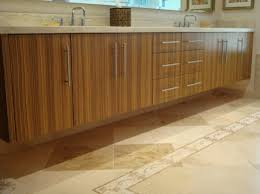 Novel Custom Zebra Wood Cabinetry What You Cant See Is That These Cabinets
