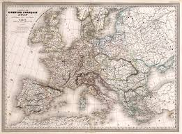 Map Of The First French Empire In 1812 Divided Into 133 Departements With Kingdoms Spain Portugal Italy And Naples Confederation