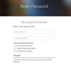 How to reset a forgotten password for Apple ID iCloud App Store