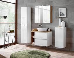 badmöbel set 6 tlg badezimmerset perugia weiss set 1 ohne waschbecken