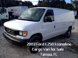 2003 Ford E250 Econoline Cargo Van For Sale Tampa FL