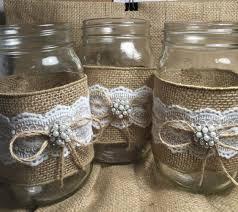 Set Of 10 Burlap Quart Mason Jar Wraps Rustic By ElianasTreasures