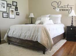 Make Queen Platform Bed Frame by Diy Queen Platform Bed Shanty 2 Chic