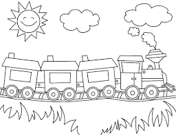 Printable Coloring Pages Transportation Train For Preschool 54526