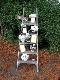 Rustic Ladder Table Plan Wedding Prop Hire Romance