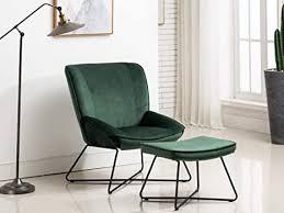 tenley sessel mit fußhocker moderner loungesessel mit