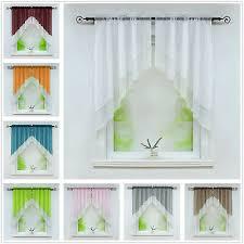 scheibengardinen 2 stück küche gardinen transparent