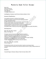 Entry Level Bank Teller Resume Luxury Elegant Examples