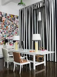 Living Room Black And White Striped Curtains Bed Bedroom