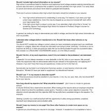 Resume Examples For Highschool Graduates Professional Resume College