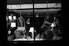 A Holiday Display Window At Erickson Furniture