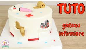 deco gateau en pate a sucre tutoriel decoration pate à sucre gâteau cake design infirmiere
