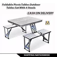 Foldable Picnic Tables Outdoor Tables Set With 4 Stools On ... Bright Painted Tables Chairs Stock Photos Fniture Wikipedia Us 3899 Giantex Portable Outdoor Folding Table Set Camping Beach Pnic With Carrying Bag Op3381gn On Aliexpress Retro Vintage View Of Pastel Cafe Chairstables Chair And Wild 3 Rattan Garden Patio Conservatory Porch Modern And Design Sets Mandaue Foam Outdoors Fold Group Close Alinium Alloy Chairs In Stock Photo Image Greece In Cafe Or Restaurants Outside