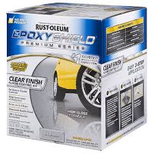 Rustoleum Garage Floor Coating Kit Instructions by Shop Rust Oleum Epoxyshield 2 Part Clear High Gloss Garage Floor