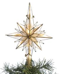 Beautiful Star Christmas Tree Toppers For A Dazzling Moravian Topper Glass