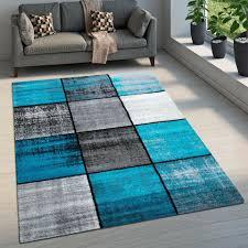 160 x 230 teppich home wohnzimmer kinderzimmer blau grau türkis