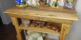 pallet wood hall table an easy diy reclaimed wood upcycling project