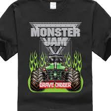 100 Monster Truck Shirts 100 Cotton Casual Jam Grave Digger Design