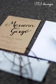 Vinca Design Wedding Invitation Stationery Rustic Natural