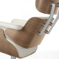 Classic Eames Lounge Chair In White Pigmented Walnut By Vitra - ARAM Eames Lounge Chair Black Ottoman Lounge Chair Replica Modterior Usa White Edition New In More Just Design 100 Leather High Quality Style And Black Palisander Herman Miller Designer Fniture Eames Style Storage Unit Walnut Cheap Excellent Vitra Collector Chicicat Alinum Group With