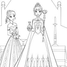 Gallery Of Awe Inspiring Queen Elsa Coloring Page Princess Anna Beautiful Pages