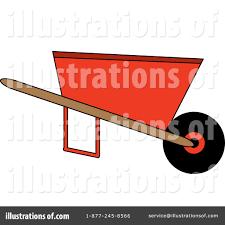 Royalty Free RF Wheelbarrow Clipart Illustration by Pams Clipart