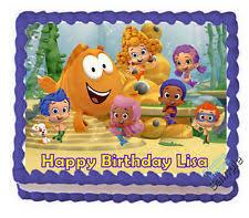 bubble guppies cake ebay