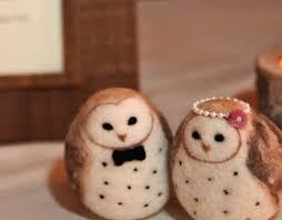 Barn Owls Wedding Cake Topper By Woolnimals Via Etsy