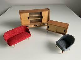 alte wohnzimmer möbel holz 50er jahre wichtelmarke