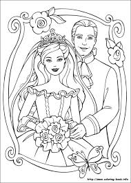 Unique Barbie Princess Coloring Pages