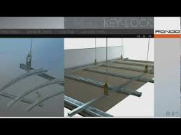 rondo key lock concealed suspended ceiling system youtube