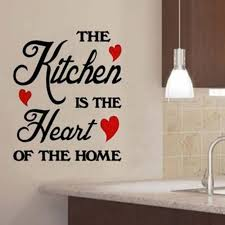 1 Pc Removable Kitchen Decor Sticker Letter The Is Heart Of Home