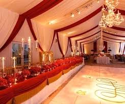 Red And Gold Decorations White Wedding For Party
