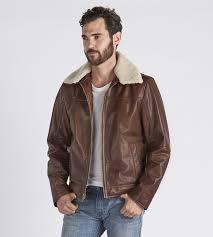 ugg official men u0027s aviator leather jacket ugg com