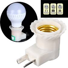 e27 to us au led light bulb socket adapter converter with switch