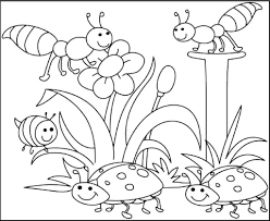 Coloring Pages Free Printable Spring Kids