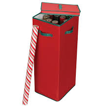 Christmas Tree Storage Tote Walmart by Amazon Com Household Essentials Holiday Storage Bin Red And