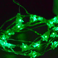 Led Strings IP65 Waterproof 2M 20LEDs String Lights Battery Operated Christmas Tree Shape LED Copper Wire
