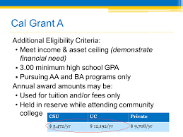 cal grants overview presented by the california student aid