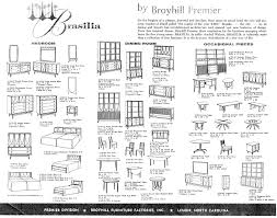 Broyhill Brasilia Gentlemans Dresser by The Original Catalogue Broyhill Brasilia Line The Brasilia Line