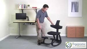 Ergonomic Kneeling Posture Office Chair by Kneeling Chairs Ergonomicofficedesigns Com Youtube